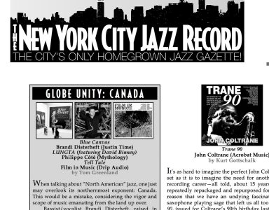 NYC Jazz record for web site